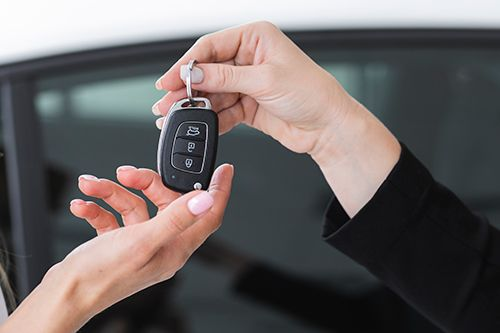 aflevering af leasing bil